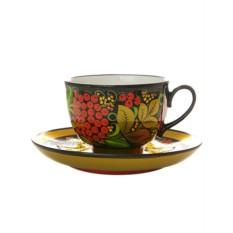 Чайная пара с художественной росписью Рябинка