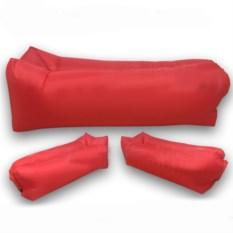 Надувной диван Lamzac Ламзак красного цвета
