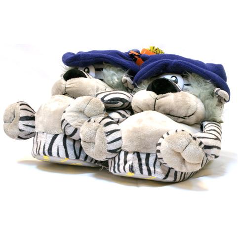 Тёплые тапочки-игрушки «Синие шляпки»