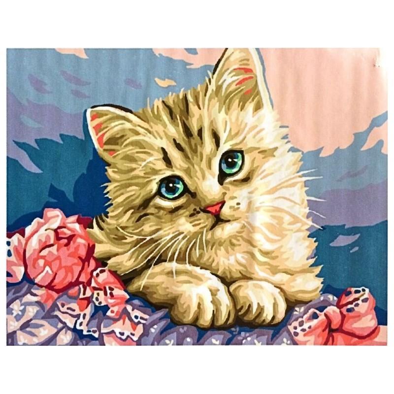 Картина-раскраска по номерам на холсте Очаровашка