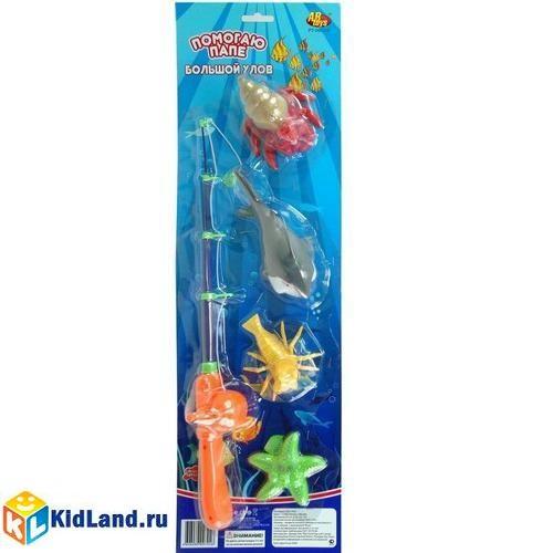 Игрушки для ванной Рыбалка набор с 1-ой удочкой, Rinzo