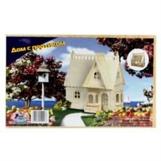 Деревянная сборная модель «Дом с портиком»