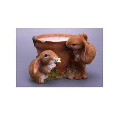 Кашпо «Горшок с зайцами»