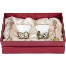 Чайная пара из фарфора Ирисы