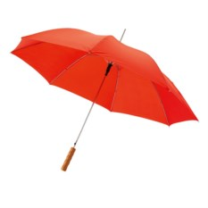 Красный полуавтоматический зонт-трость