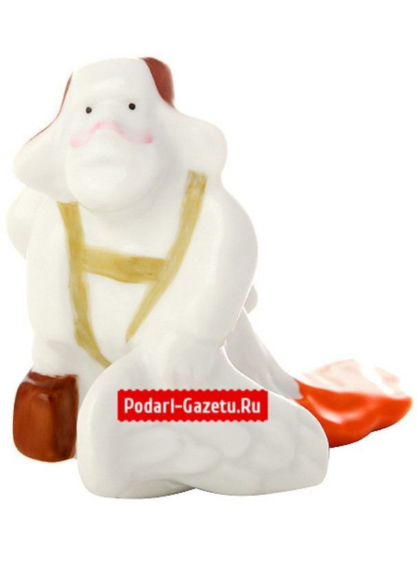 Фарфоровая статуэтка  Командировочный