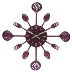 Часы настенные Фиолетовый набор повара