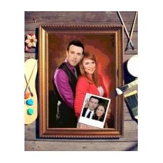 Парный портрет по фото Влюбленная пара