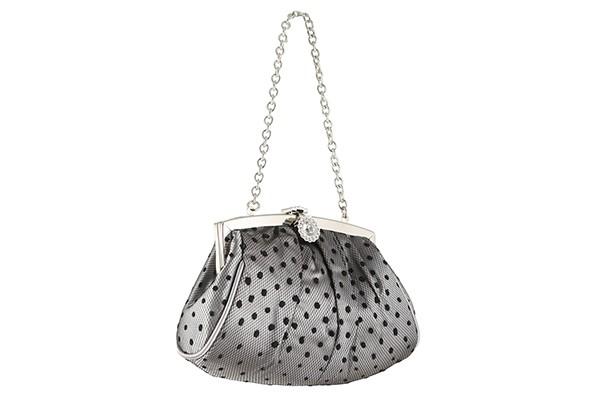 Серебристая женская вечерняя сумка Fabretti