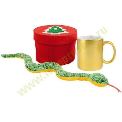 Новогодний набор: кружка на 320 мл, игрушка «Змея»