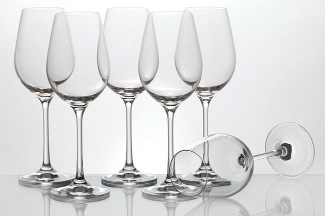 Набор 6 бокалов для вина 250 мл Crystalex Виола