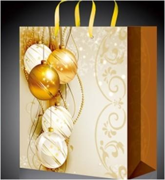 Золотой новогодний пакет