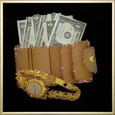 Новогодняя картина Swarovski «Время деньги»