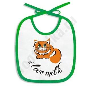 Слюнявчик I love Milk
