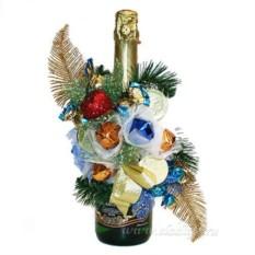 Букет из цветов Украшение на бутылку