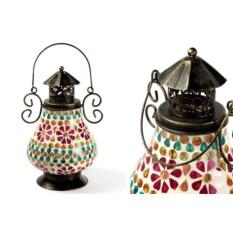 Разноцветный декоративный фонарь-подсвечник