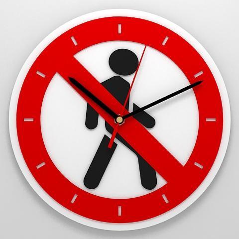 Часы «Пешеходное движение запрещено»