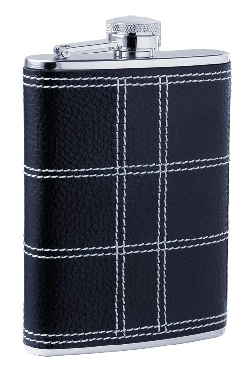 Фляга D-Pro S.Quire, черная с прострочкой, 0,27 л