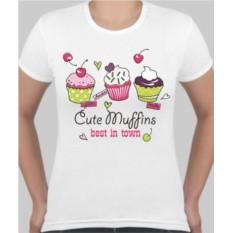 Женская футболка Cute Muffins