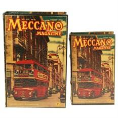 Набор шкатулок-фолиантов Meccano magazine