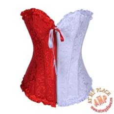 Бело-красный корсет