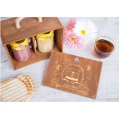 Подарочный набор из 2 банок мёда «Вкусное настроение»