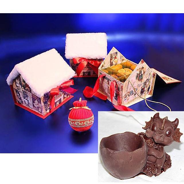 Набор конфет «Новогодний домик с драконом»