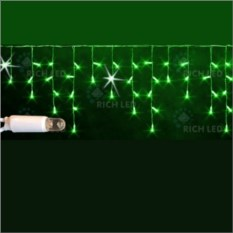 Мерцающая светодиодная бахрома зеленого цвета 3х0,5 м
