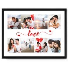 Фотопостер в рамке «Любовь»