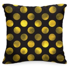 Декоративная подушка «В золотой горошек»