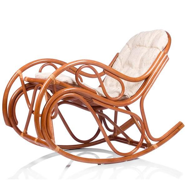 Кресло-качалка с подушкой Classic Rattan