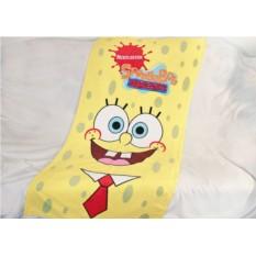 Детское махровое полотенце Губка Боб