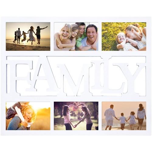 Мультирамка с вашим фото Family (цвет — белый)