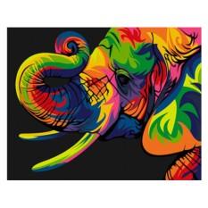 Картины по номерам «Радужный слон»