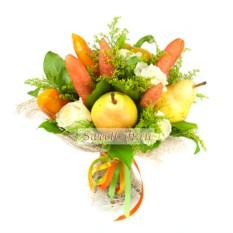 Букет из фруктов и овощей Фитнес