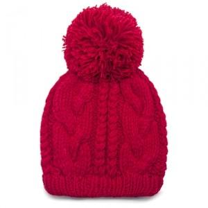 Шапка Relief knitting (красная)
