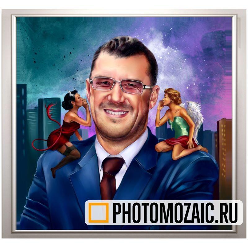 Дизайнерский портрет по фото, мужской