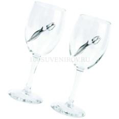 Набор: два бокала с серебряными тюльпанами
