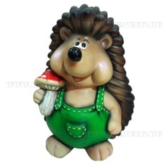 Декоративная фигурка Ежик с грибом