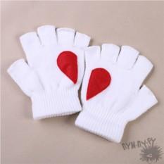 Белые полуперчатки Love is...