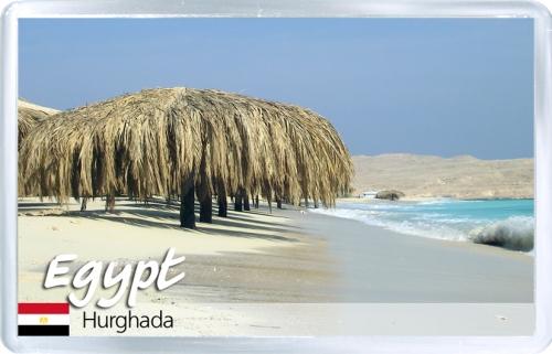 Магнит на холодильник: Египет. Пляж в Хургаде