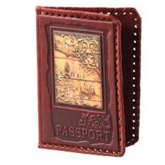 Обложка для паспорта из натуральной кожи с фотопечатью