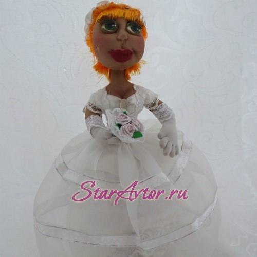 Авторская текстильная кукла ручной работы Богатая невеста