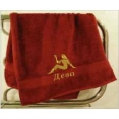 Махровое полотенце Дева