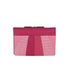 Женский кожаный кошелёк Leo Ventoni в оттенках розового