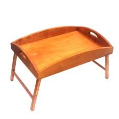 Столик для завтрака в постель с бортиками (цвет — орех)