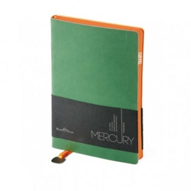 Зеленый недатированный ежедневник Mercury А5
