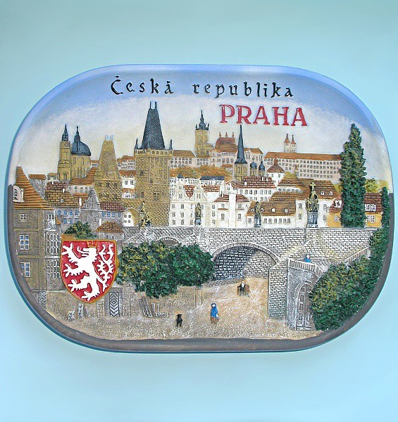Сувенирная тарелка Чехия. Прага