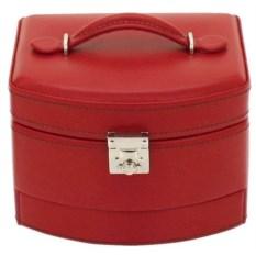 Красная шкатулка с ручкой для хранения украшений
