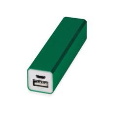 Зеленое портативное зарядное устройство Брадуэлл 2200 mAh